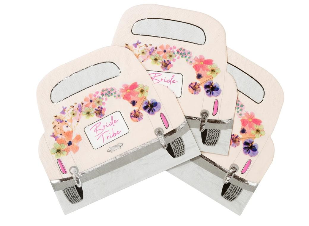 Blossom Bride Car Shaped Napkins 16pk
