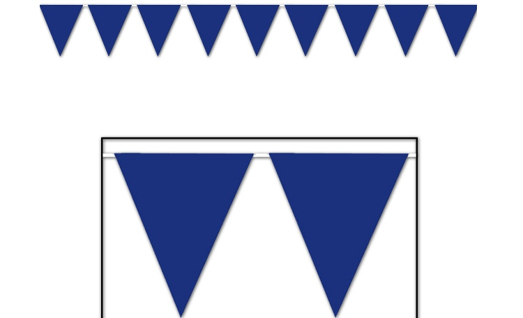 All Weather Bunting Flags - Blue
