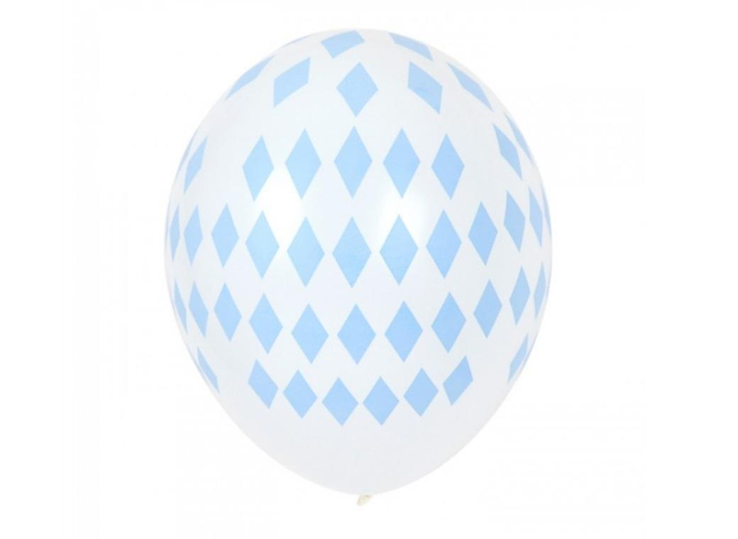 Blue Diamonds - Balloons 5pk