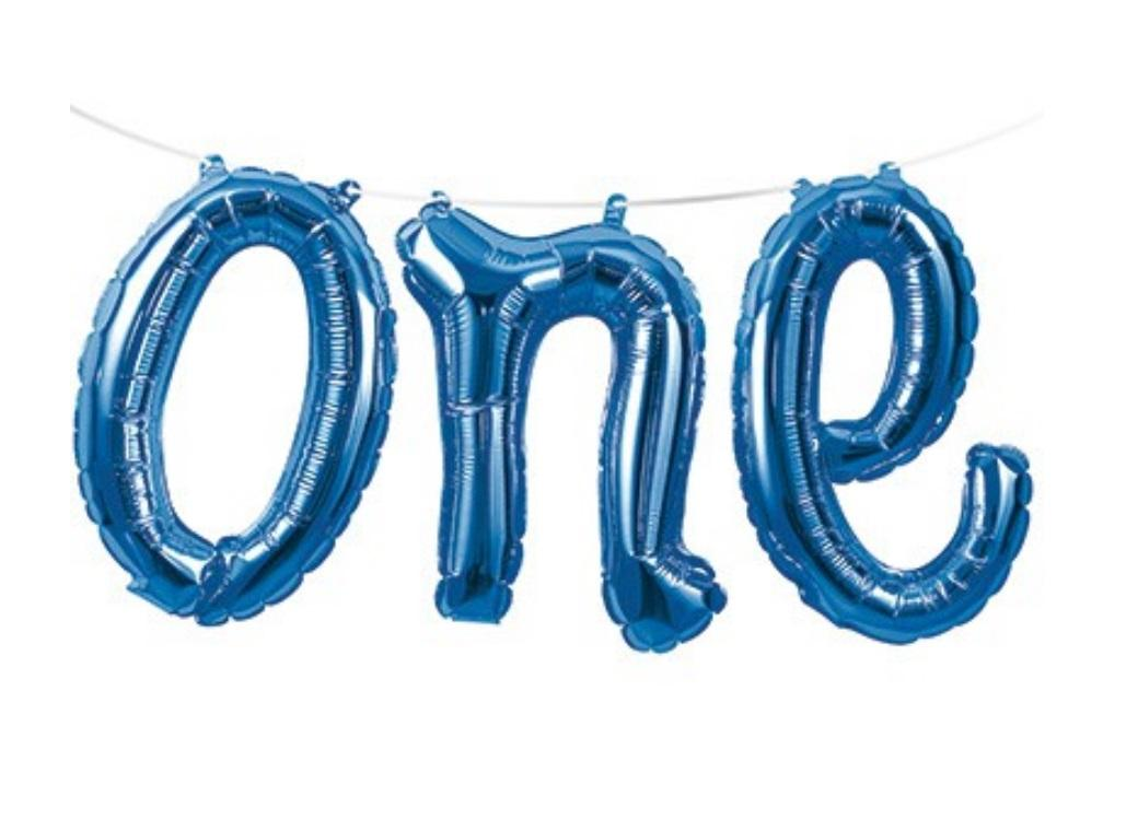 Foil Balloon Kit - Blue One