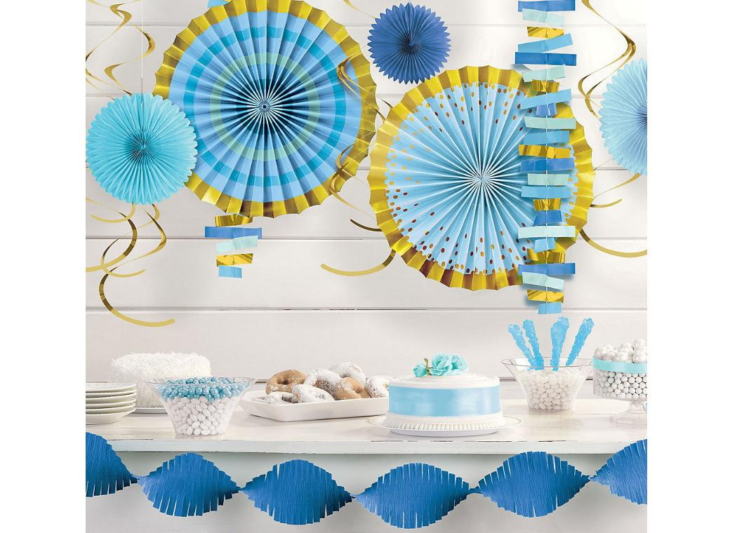 Blue & Gold Room Decorating Kit