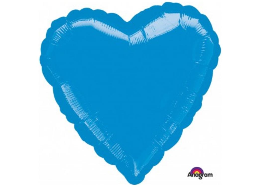 Heart Shaped Foil Balloon - Blue