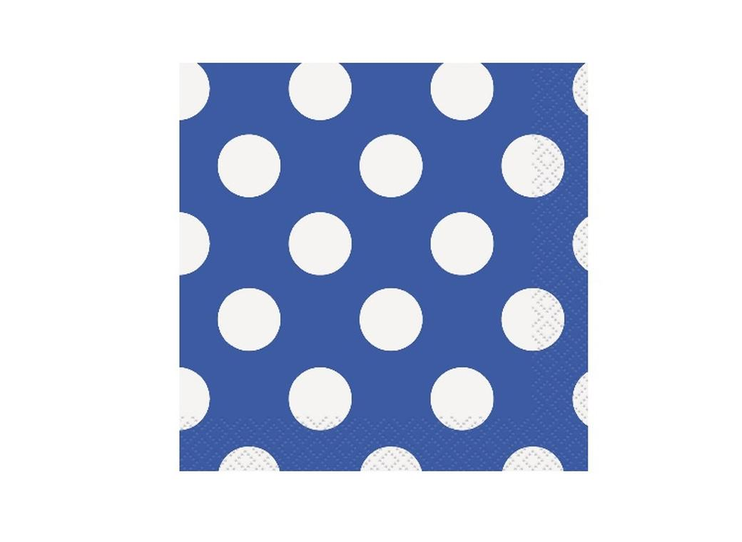 Blue Polka Dot Lunch Napkins