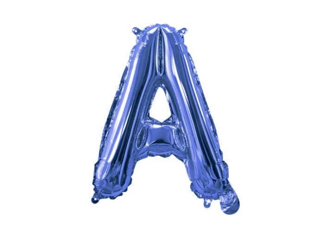 Mini Blue Foil Balloon - Letter A