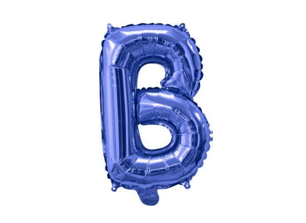 Mini Blue Foil Balloon - Letter B