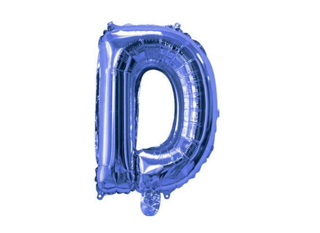 Mini Blue Foil Balloon - Letter D