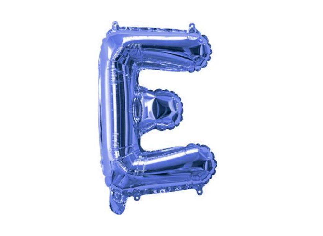 Mini Blue Foil Balloon - Letter E