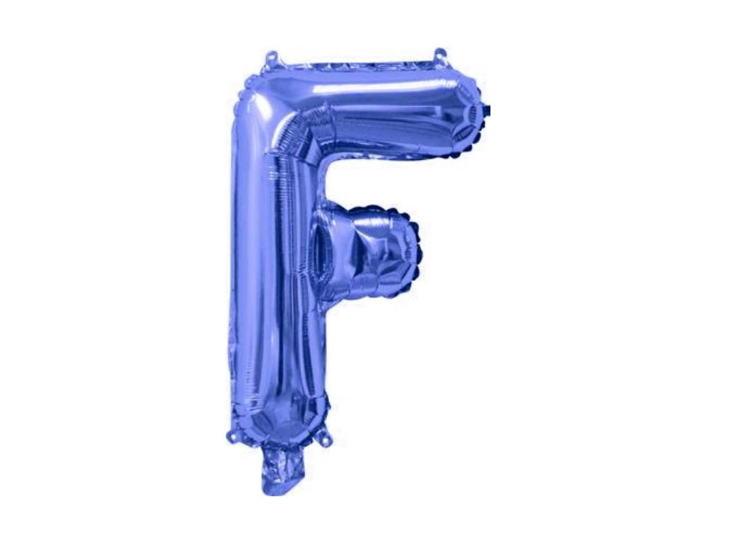 Mini Blue Foil Balloon - Letter F
