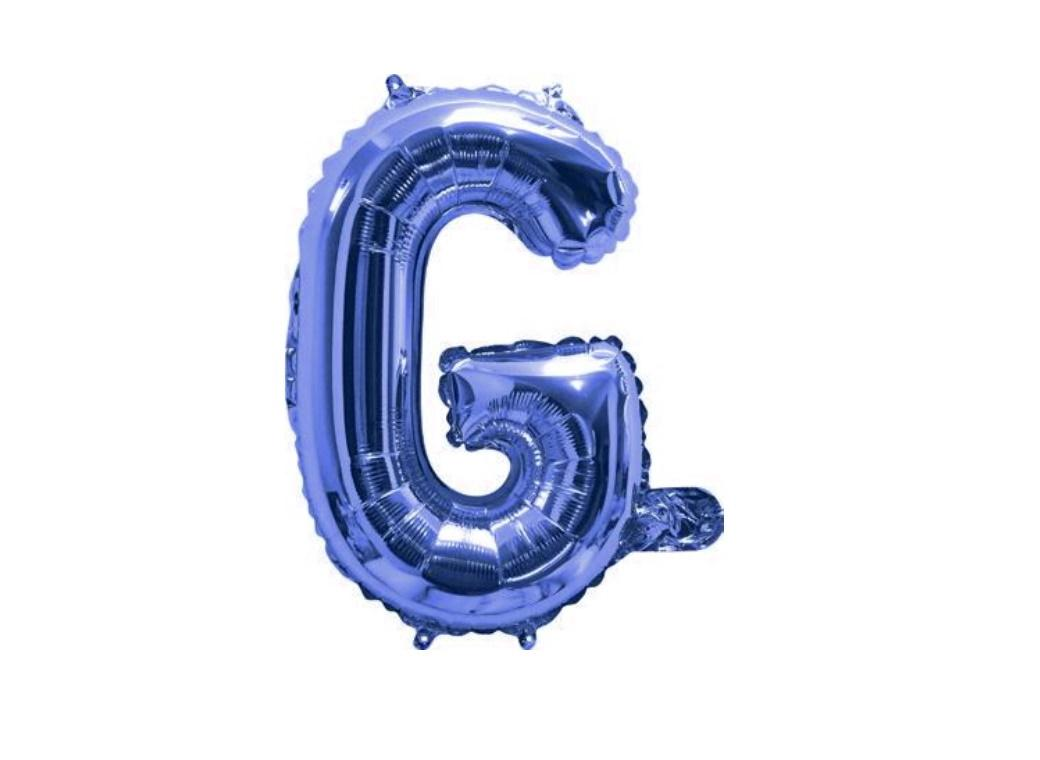 Mini Blue Foil Balloon - Letter G