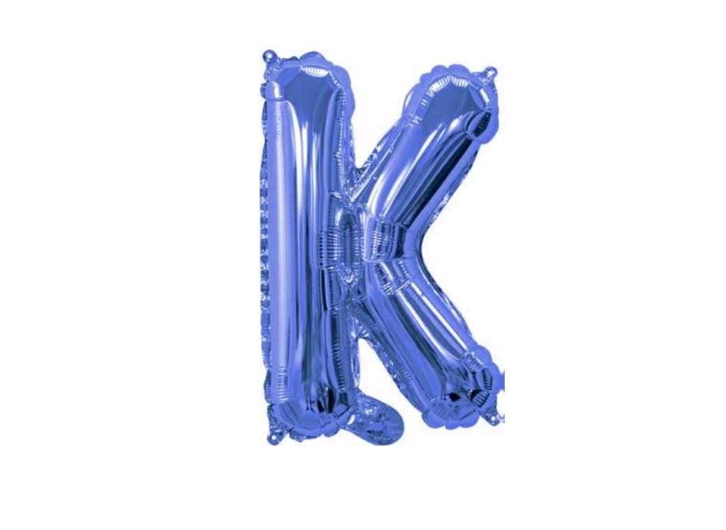 Mini Blue Foil Balloon - Letter K