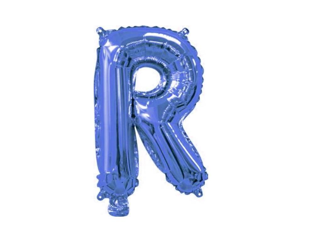 Mini Blue Foil Balloon - Letter R