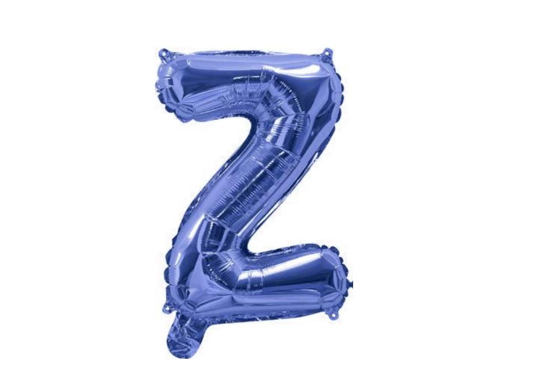 Mini Blue Foil Balloon - Letter Z