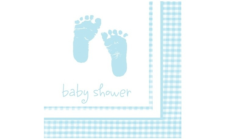 Baby Boy Lunch Napkins 16pk