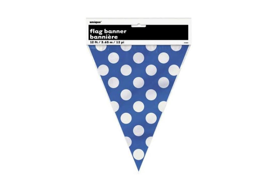 Blue Polka Dot Banner Flags