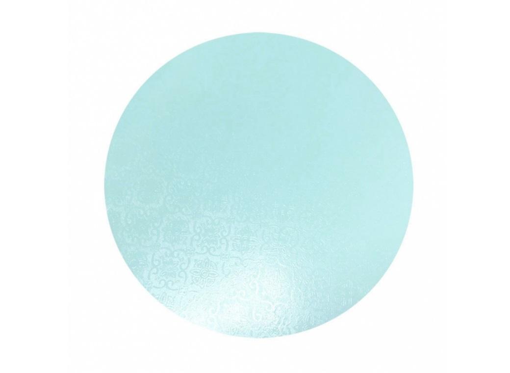 "Blue Masonite Cake Board Round - 6"""