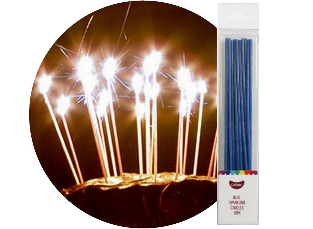 Sparkling Candles 18pk Blue