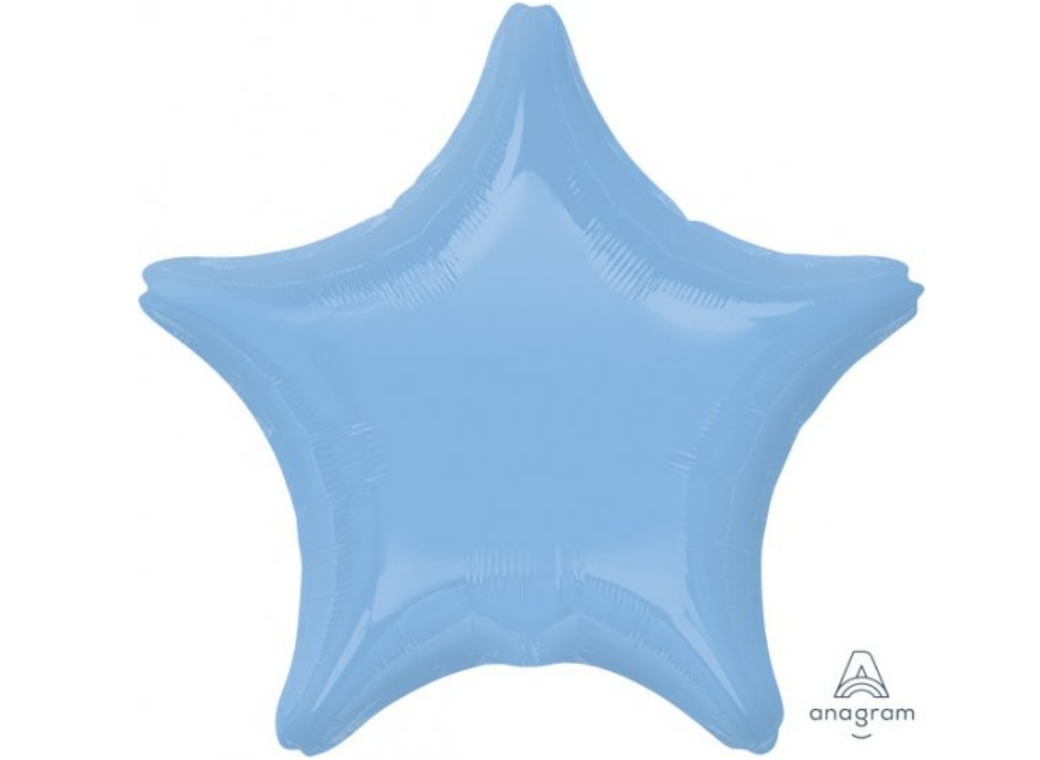 Star Shaped Foil Balloon - Pastel Blue