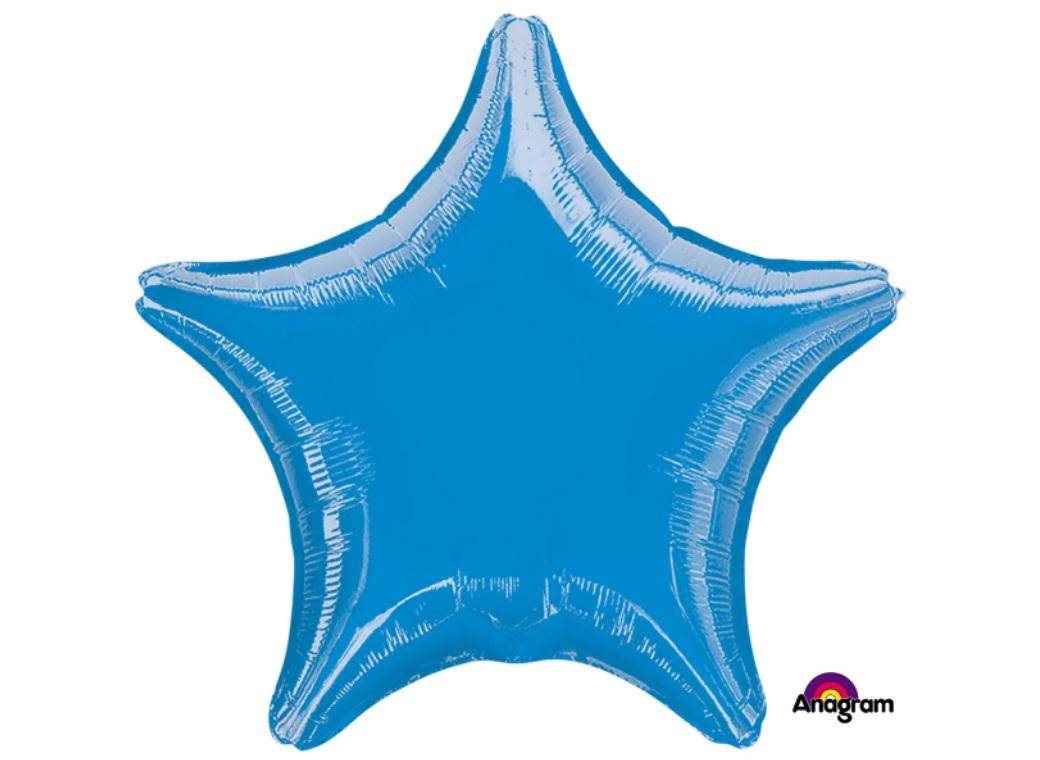 Star Shaped Foil Balloon - Blue