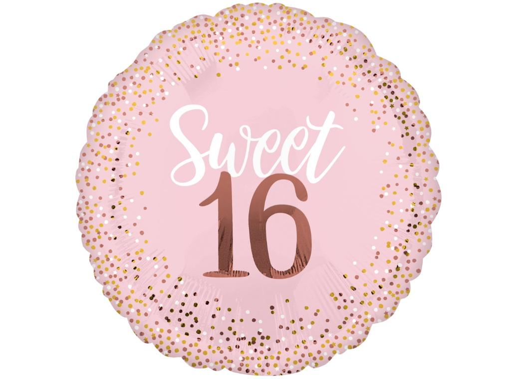 Blush Sweet Sixteen SuperShape Foil Balloon