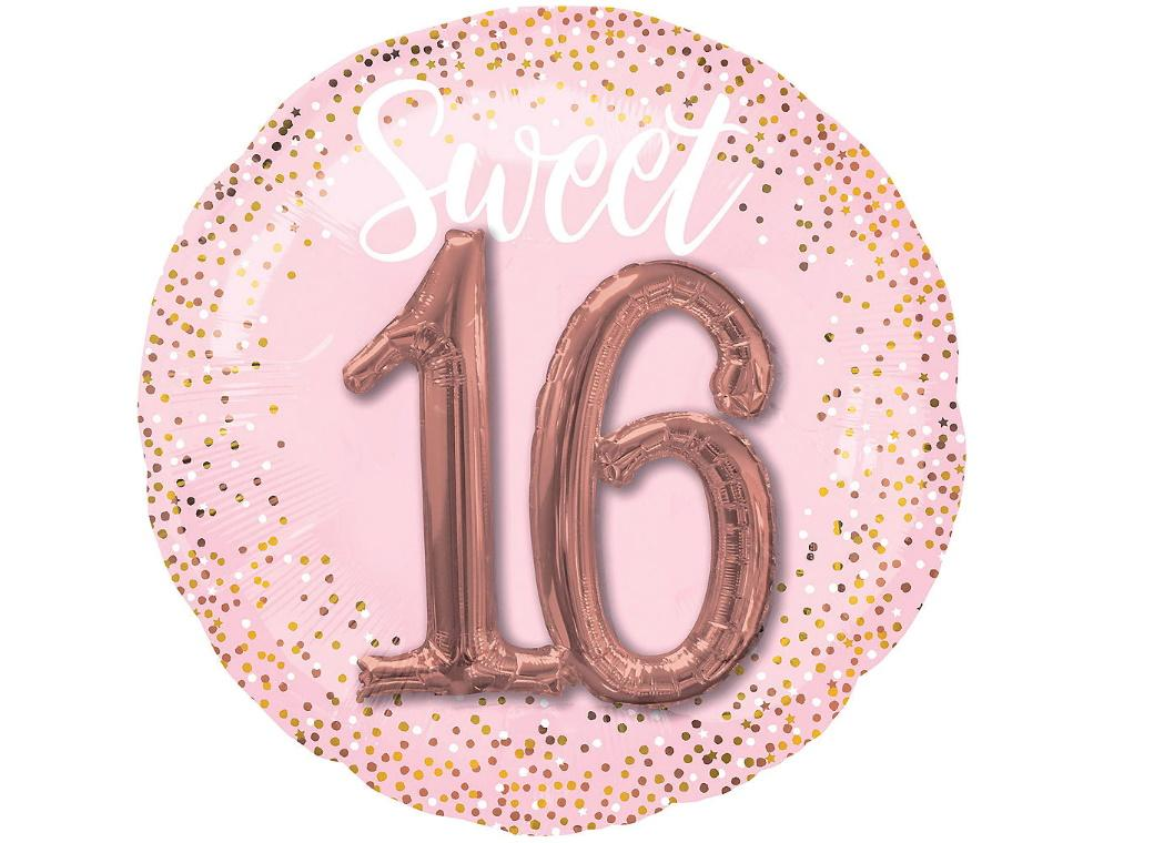 Blush Sweet Sixteen Foil Multi-Balloon