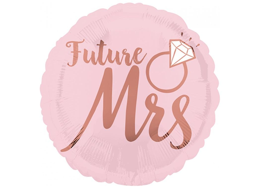 Blush Wedding Future Mrs Foil Balloon