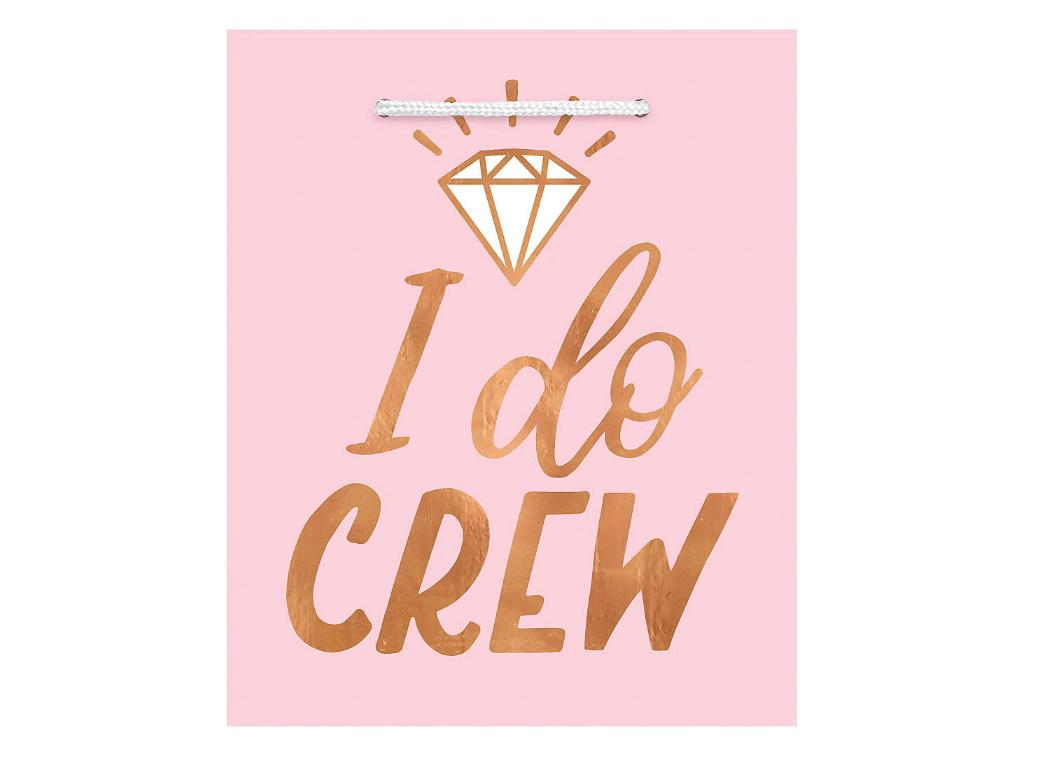 Blush Wedding I Do Crew Gift Bags 6pk