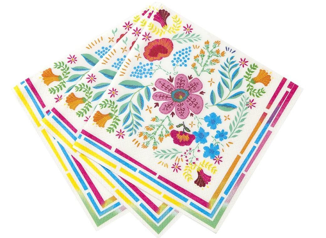Boho Floral Napkins 20pk