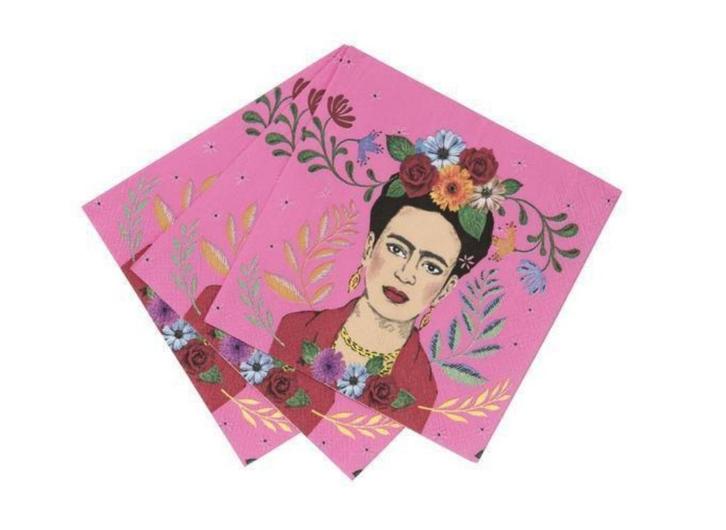 Boho Frida Beverage Napkins 20pk