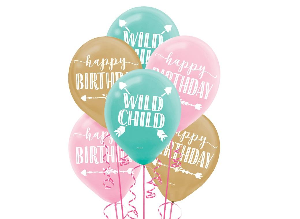 Boho Girl Balloons 15pk