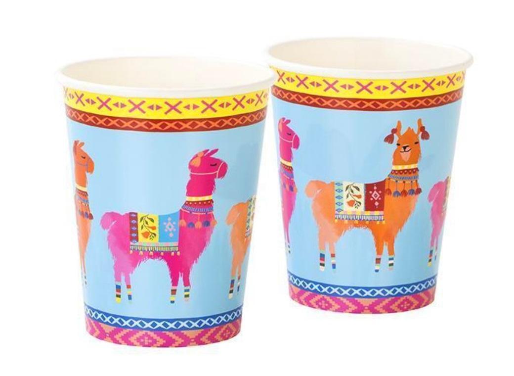 Boho Llama Cups 8pk