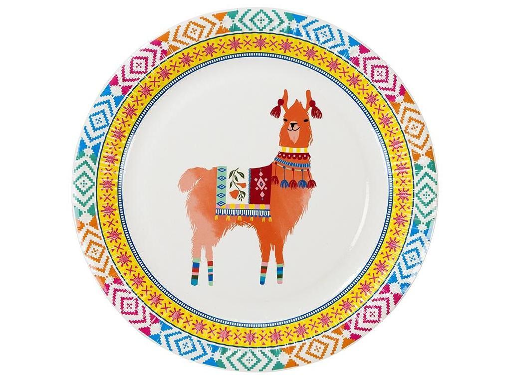 Boho Llama Plates 8pk