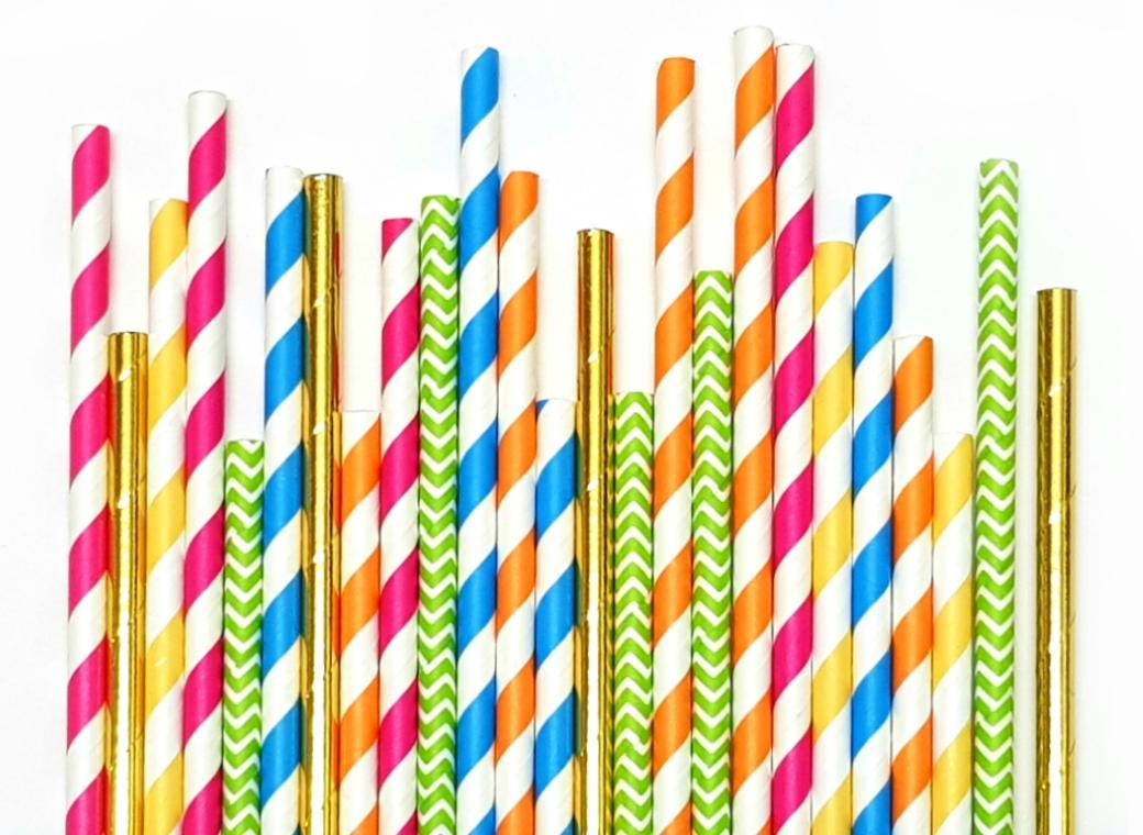 Paper Straws Mix 25pk - Boho
