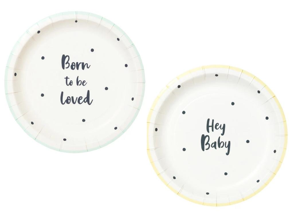 Born To Be Loved Plates 12pk