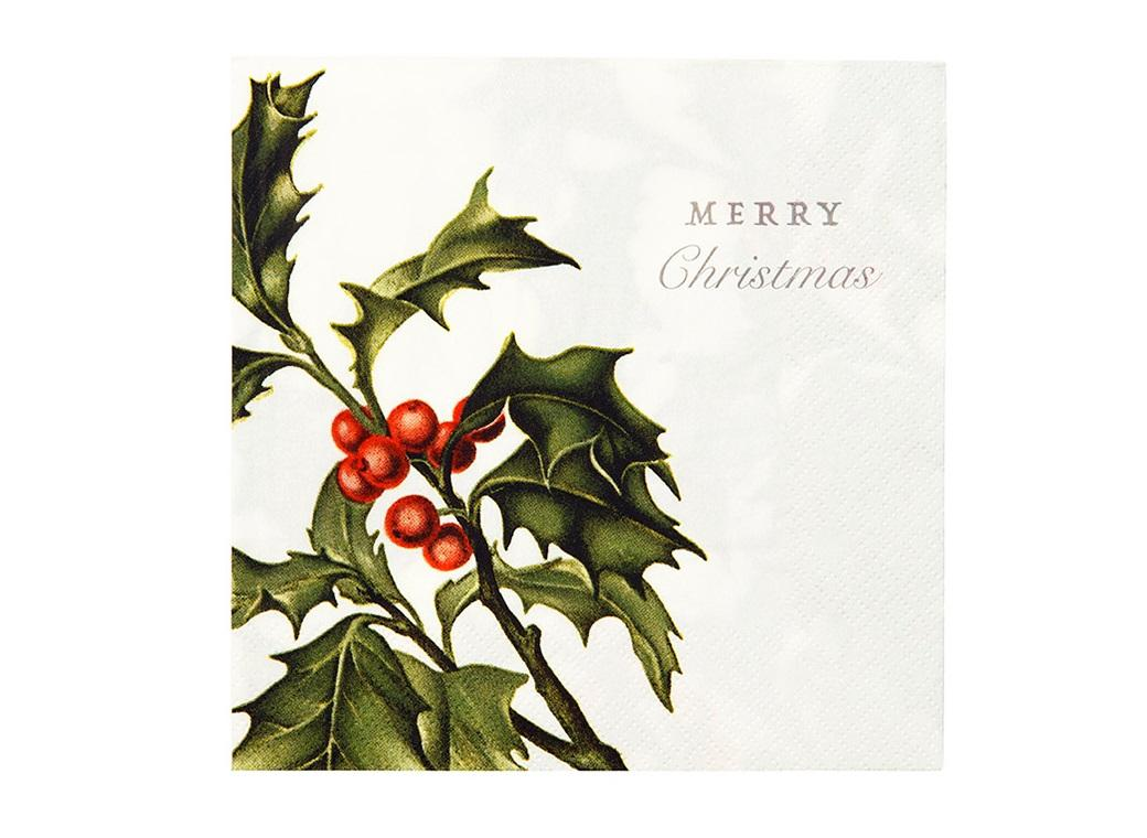 Botanical Christmas Napkins 20pk