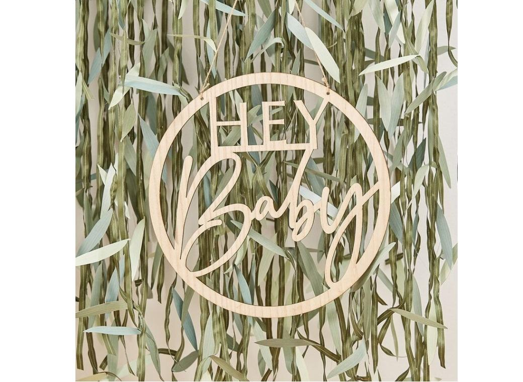 Botanical Baby Hey Baby Sign