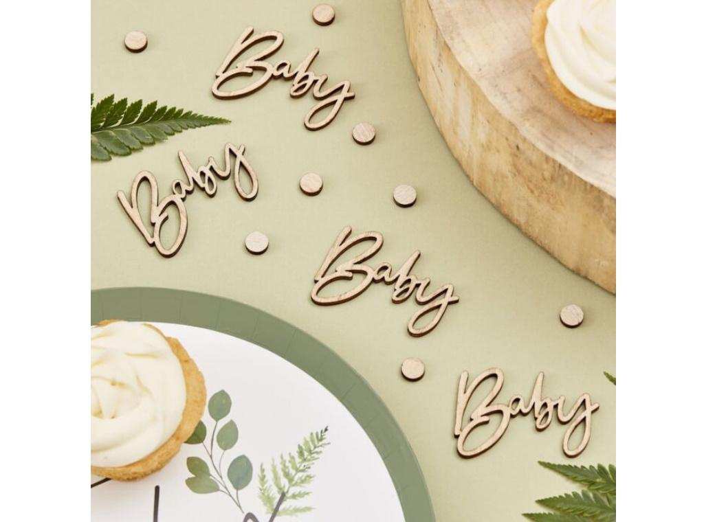 Botanical Baby Wooden Confetti