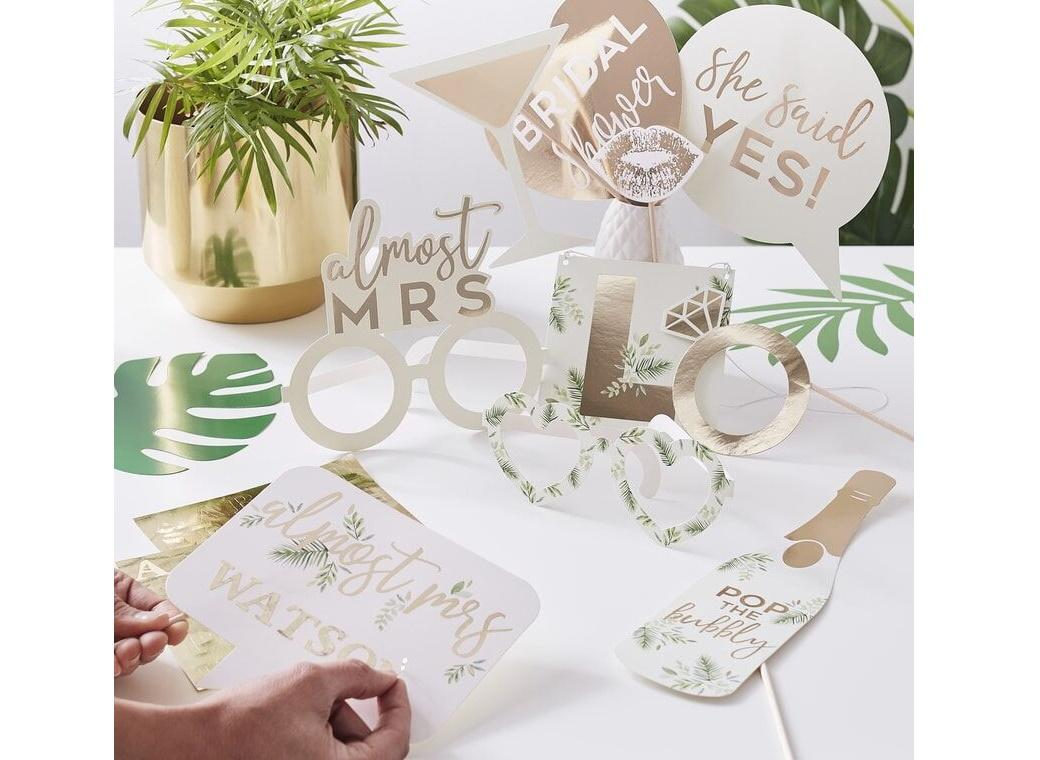 Botanical Hen Photo Booth Props