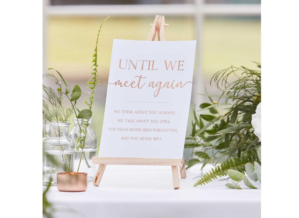Botanical Wedding Memorial Sign & Easel