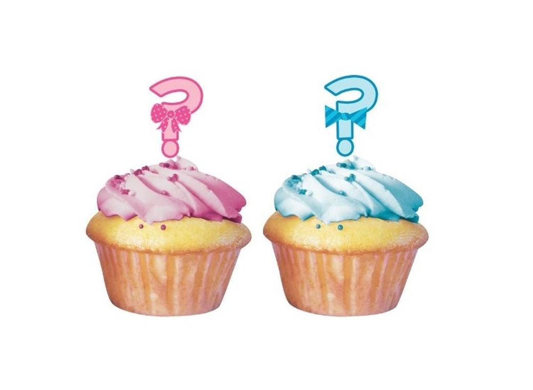 Bow or Bowtie? Cupcake Toppers