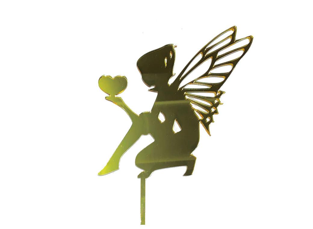 Fairy Cake Topper (Boy) - Gold