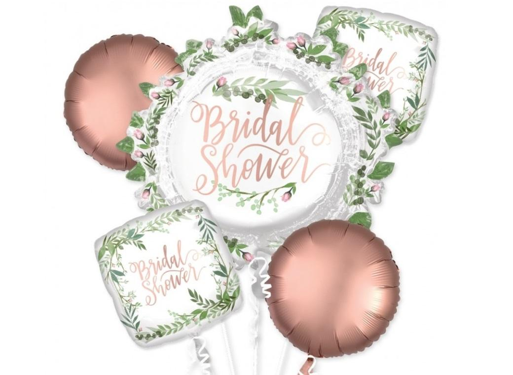 Bridal Shower Love & Leaves Foil Balloon Bouquet