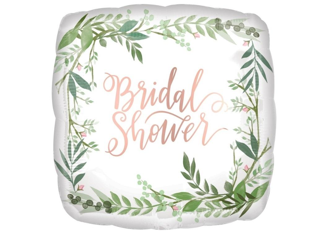 Bridal Shower Love & Leaves Foil Balloon