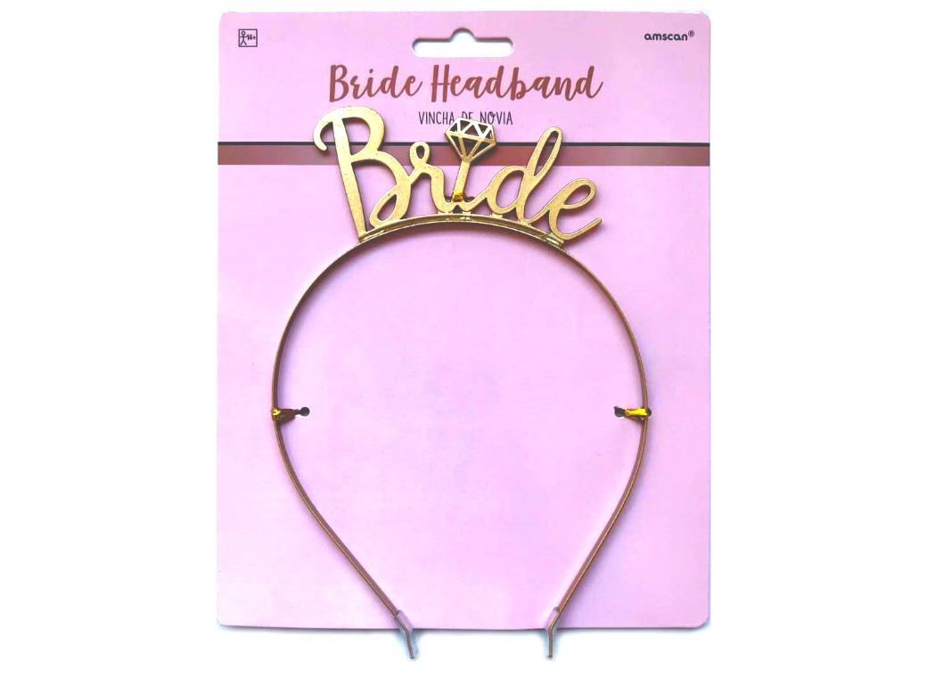 Bride Gold Metal Headband