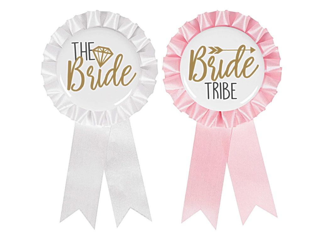 Bride Tribe Award Ribbons 8pk