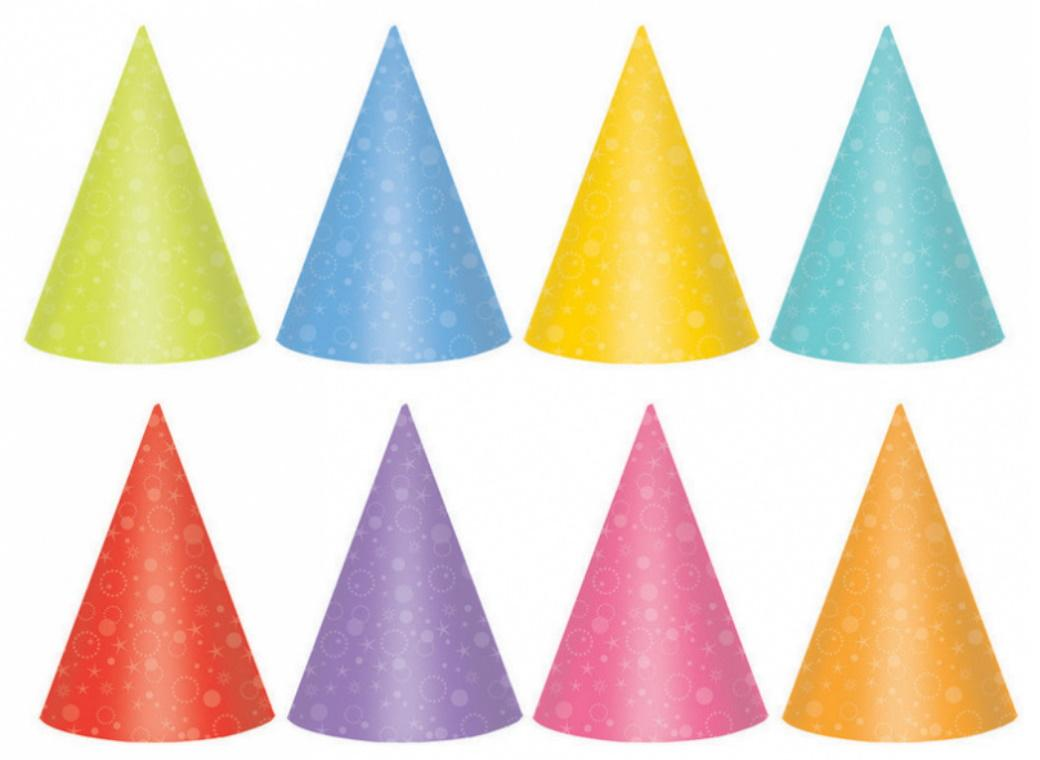 Party Hats Brights 24pk