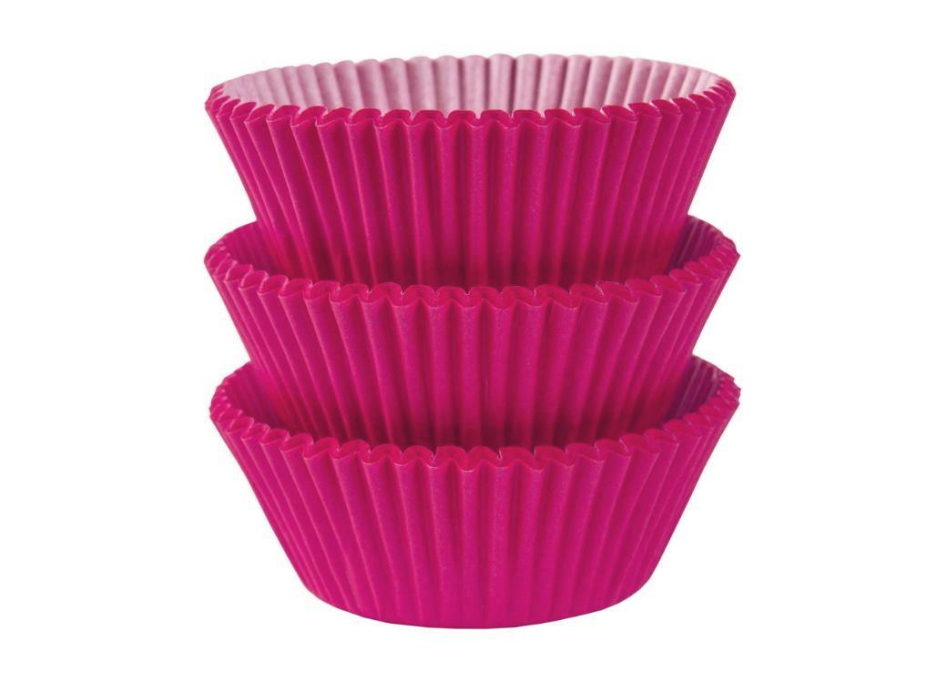 Cupcake Cases 75pk Bright Pink