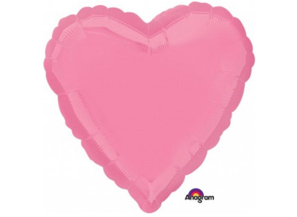 Heart Shaped Foil Balloon - Bright Pink