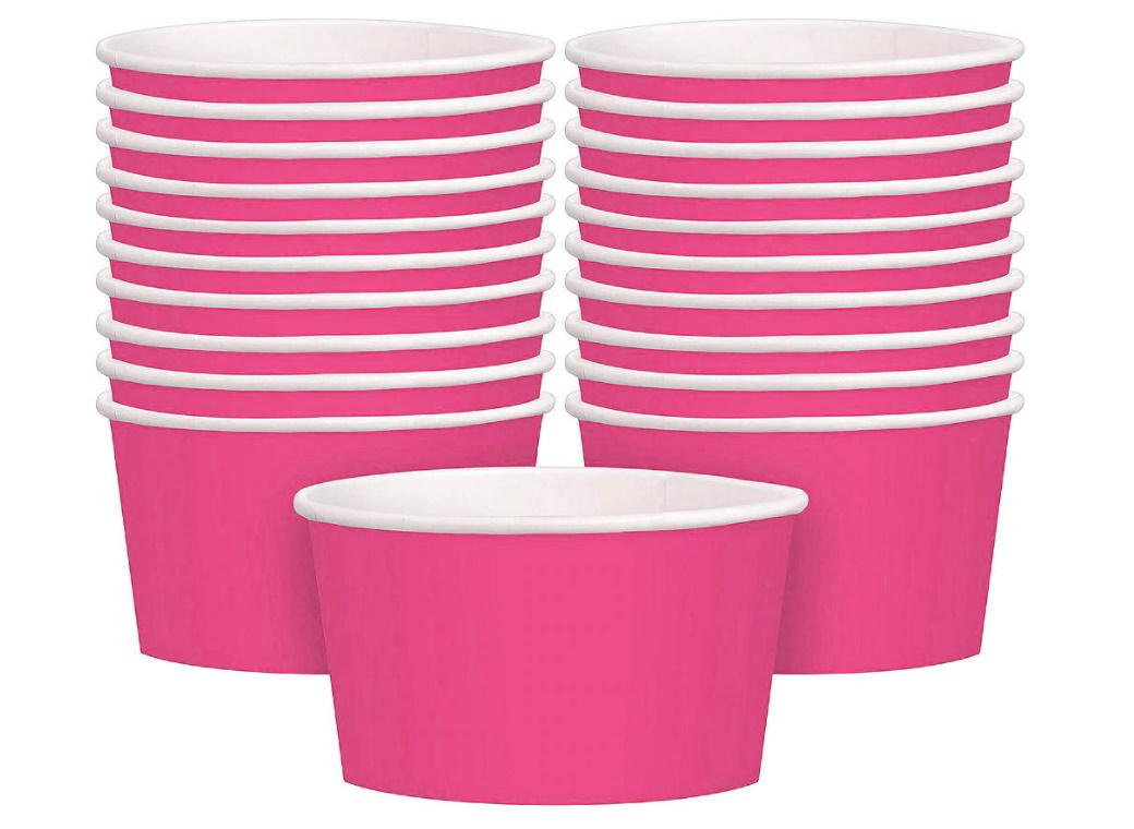 Treat Cups 20pk - Bright Pink