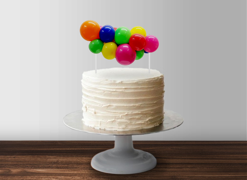 Balloon Garland Cake Topper - Bright Rainbow