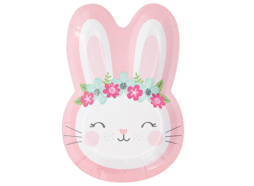 Some Bunny Shaped Plates 8pk